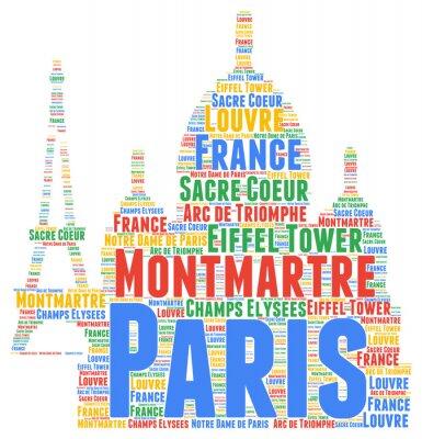 Sticker Nuage de mot de Paris