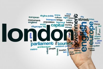 Sticker Nuage de mots de Londres