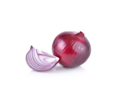 Sticker Oignon rouge sur fond blanc