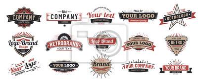 Sticker Old badges. Vintage sign, retro premium badge and logo emblem frame vector set
