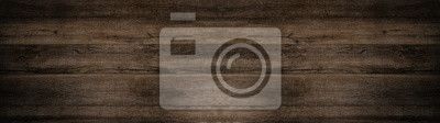 Sticker old brown rustic dark wooden texture - wood background panorama long banner