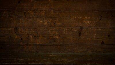 Sticker old brown rustic dark wooden texture - wood timber background