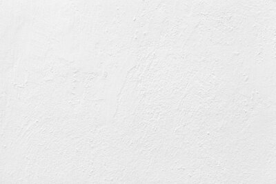 Sticker Old cement wall painted white texture and seamless background