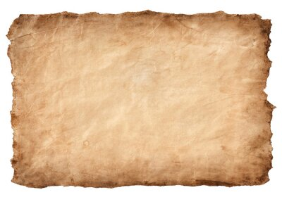 Sticker old parchment paper sheet vintage aged or texture isolated on white background