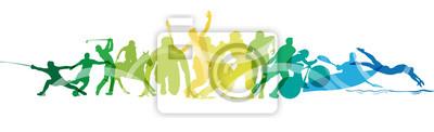 Sticker Olimpiadi, sport, gare, competizioni