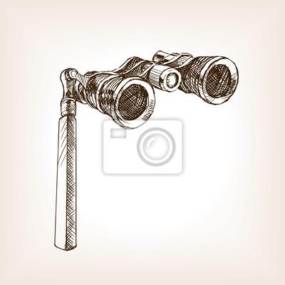Sticker Opera, lunettes, croquis, Style, vecteur, Illustration