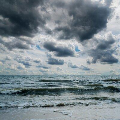 Sticker Orageux, ciel, sombre, mer