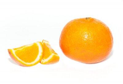 Orange, fruit, blanc