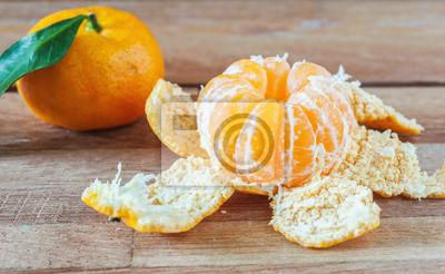 Orange, fruit, bois, encore, vie, vie