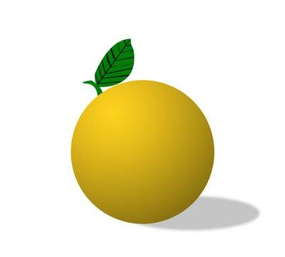 Orange, fruit, isolé
