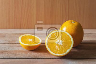 Orange, fruit, trancher, encore, vie, vie