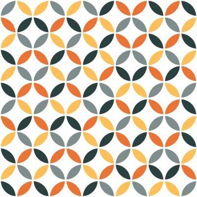 Sticker Orange, géométrique, retro, seamless, modèle