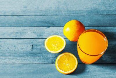 Orange, jus, frais, orange, encore, vie