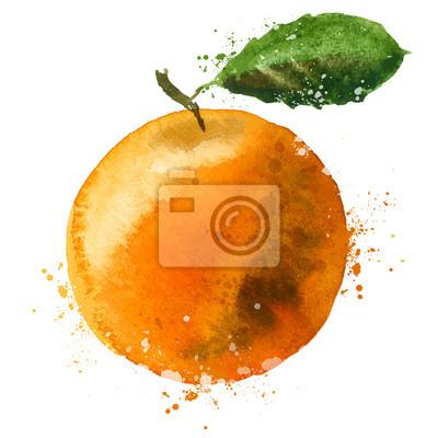 Orange modèle de conception vecteur de logo. fruits ou l'icône de la nourriture.