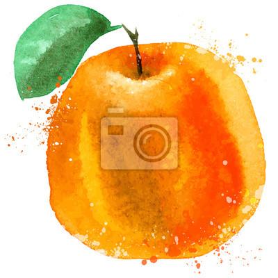 Orange modèle de conception vecteur de logo. la nourriture ou des fruits icône.