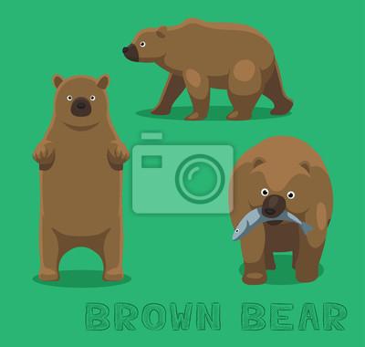 Sticker Ours, ours, brun, ours, dessin animé, vecteur