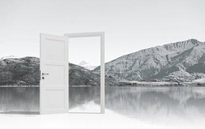 Sticker Ouvert la porte à quelque part