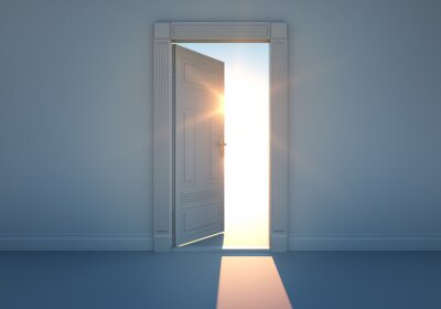 Sticker Ouvrez la porte avec la lumière du soleil