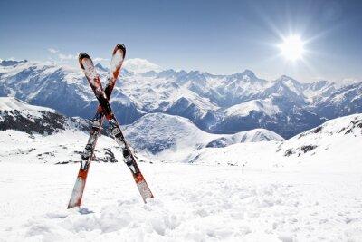 Sticker Paire de skis de fond