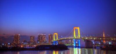 Sticker Panaroma Illuminated Tokyo