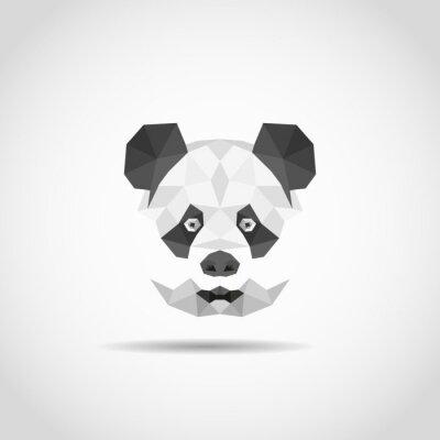 Sticker Panda moderne en style polygonal