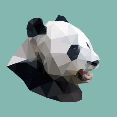 Sticker Panda polygonale, polygone animaux abstrait géométrique, vecteur illus