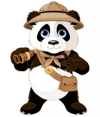 Sticker Panda Safari Explorateur