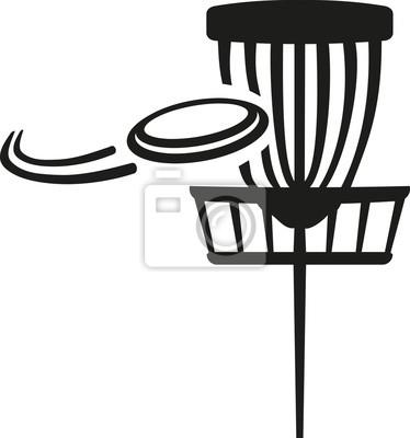 Panier de golf de disque avec frisbee volant