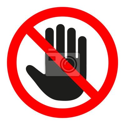 panneau stop entr e interdite bras noir dans un cercle. Black Bedroom Furniture Sets. Home Design Ideas