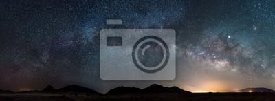 Sticker Pano of the Milky way in Arizona