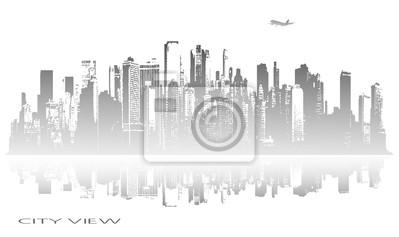 panorama abstrait de la ville