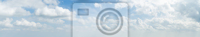 Sticker Panorama, blanc, nuage, bleu, ciel, matin