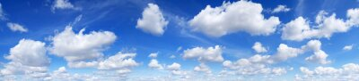 Sticker Panorama - Blue sky and white clouds