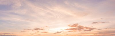 Sticker Panorama ciel coucher de soleil