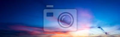 Sticker Panorama crépuscule nature ciel et cirrus nuage