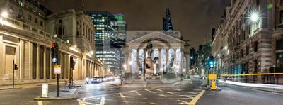 Sticker Panorama de la Bourse Royale à Londres bei Nacht