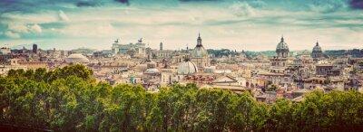 Sticker Panorama de la ville antique de Rome, Italie. Millésime
