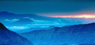 Sticker panorama de montagne sur la vue de dessus, Blue Mountains
