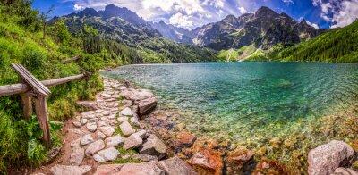 Sticker Panorama, Étang, milieu, Tatra, montagnes