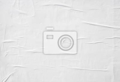 Sticker Papier blanc froissé