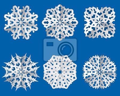 papier flocon de neige ic ne origami th me de no l. Black Bedroom Furniture Sets. Home Design Ideas