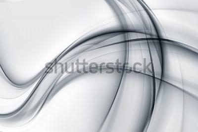 Sticker Papier peint génial blanc brillant gris abstrait
