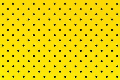 Sticker Papier peint, motif, noir, points, jaune, couleur, fond