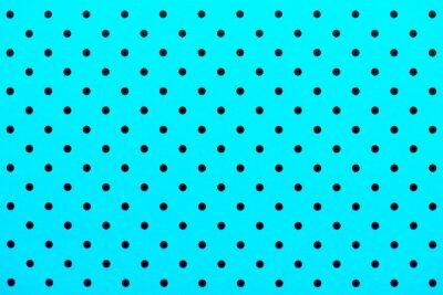 Sticker Papier peint, motif, noir, points, turquoise, couleur, fond