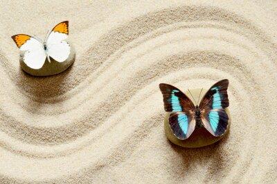 Sticker Papillon sur le sable