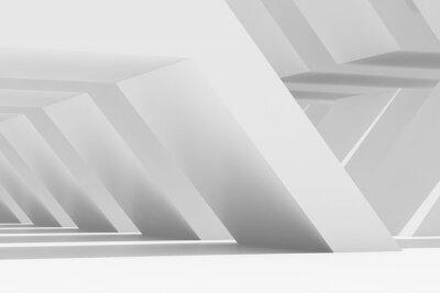 Parametric architecture template. 3d render