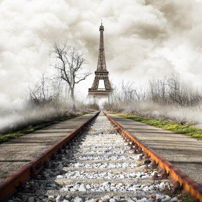 Sticker Parigi en treno cru