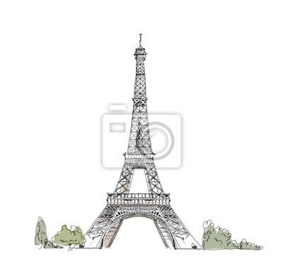 Sticker Paris, collection croquis: La tour Eiffel