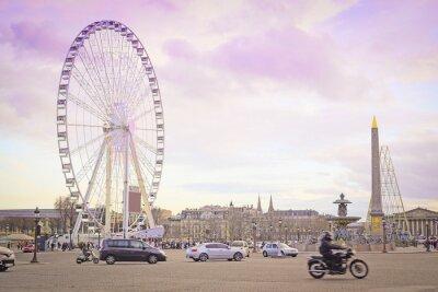 Sticker Paris, France - 7 février 2016: Grande roue sur la Place de la Concorde à Paris, France