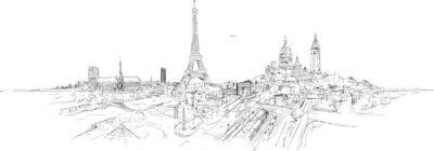 Sticker PARIS panoramique panoramique
